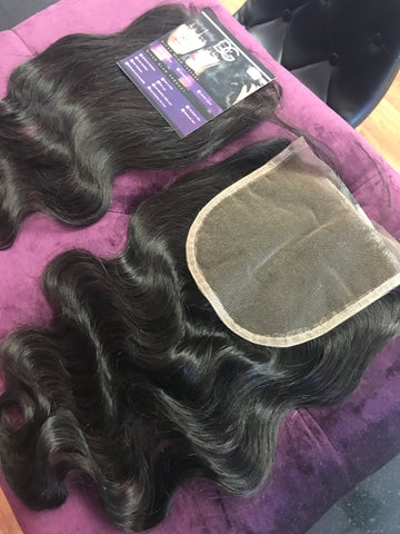 """GLAM COLLECTION"" 5x5 PERFECT MATCH  ILLUSION MESH LACE CLOSURE BUY 1 GET 1 FREE"