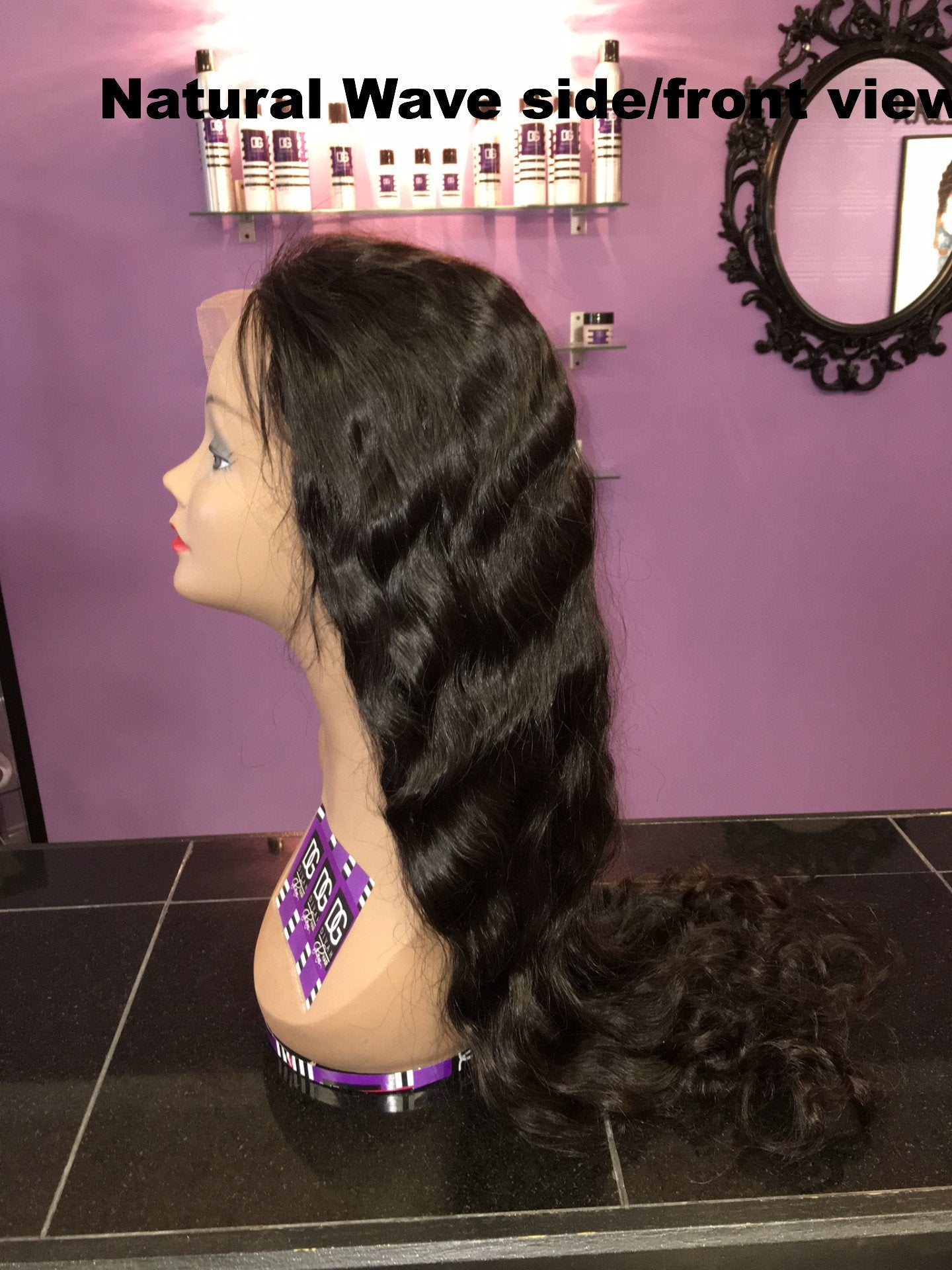 GLUELESS NATURAL WAVE FULL LACE WIG