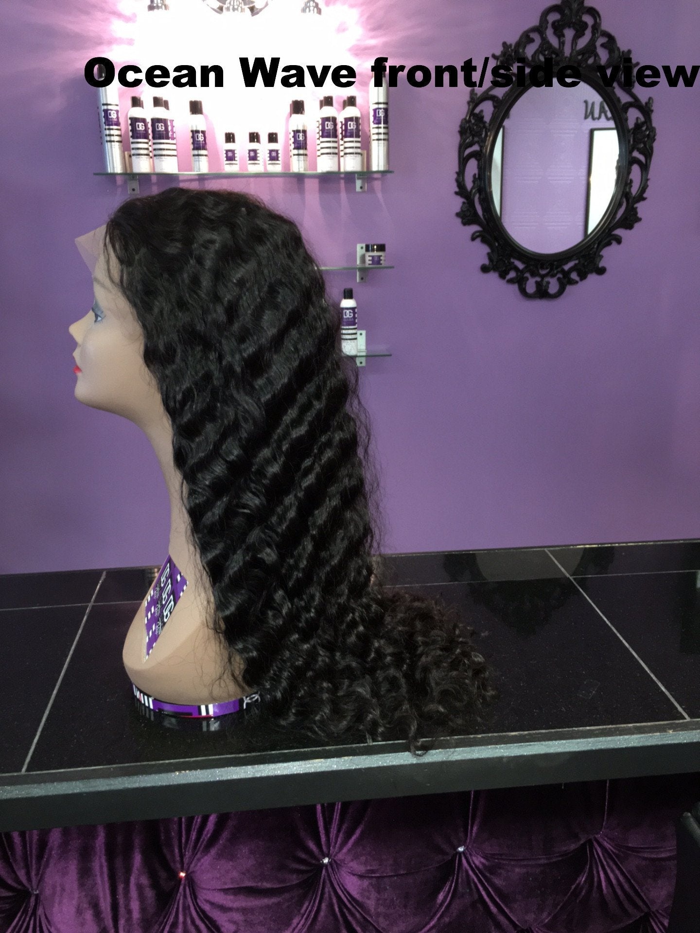 GLUELESS PERUVIAN OCEAN WAVE FULL LACE WIG