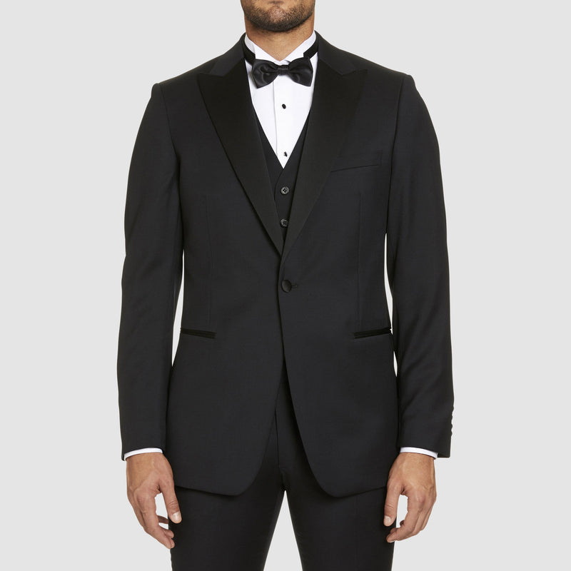 Studio Italia classic fit st.regis tuxedo in black pure wool - Big Man Sizes