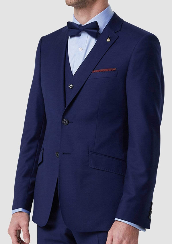 Wolf Kanat slim fit autograf suit vest in blue