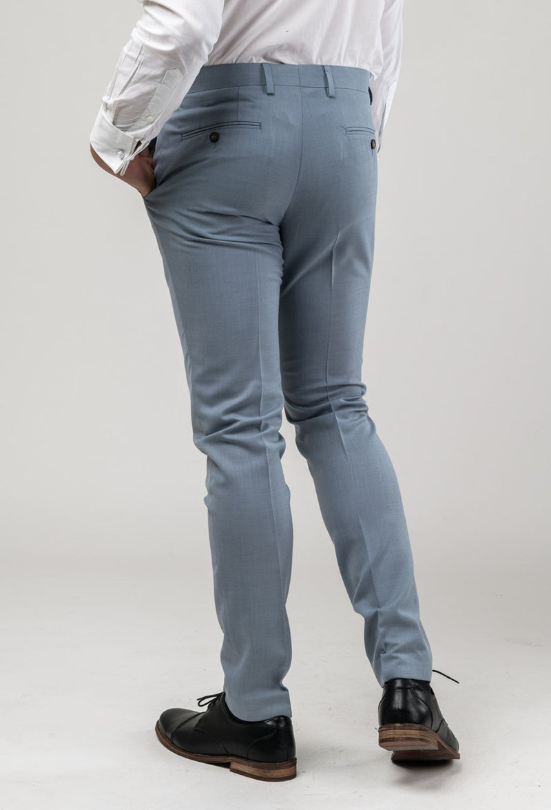 A picture of the Aston slim fit Brighton trouser in sky blue A0520191T