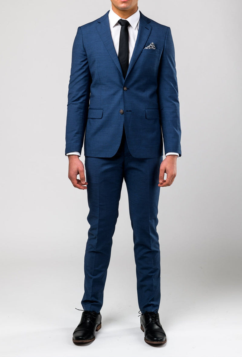 a full length picture of the aston slim fit leon suit in slate A042682