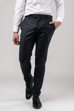 a front view of the Aston slim fit moores trouser in charcoal A029301T-NL