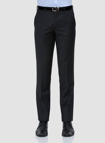 Cambridge classic fit interceptor trouser in charcoal pure wool