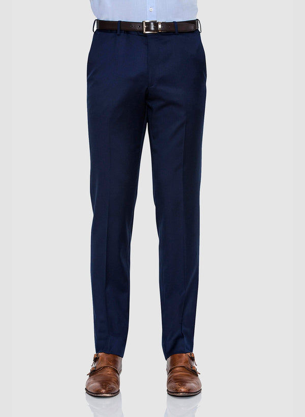 front view of the Cambridge classic fit interceptor trouser in navy pure wool FCZ027