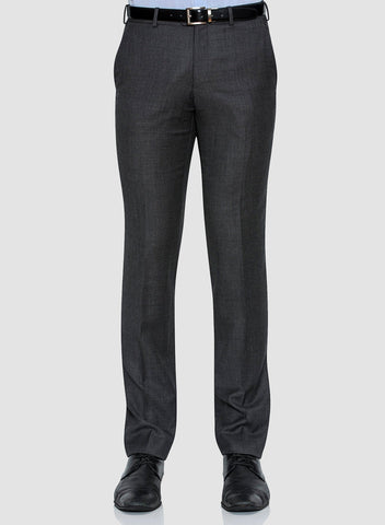 Cambridge classic fit interceptor trouser in grey pure wool