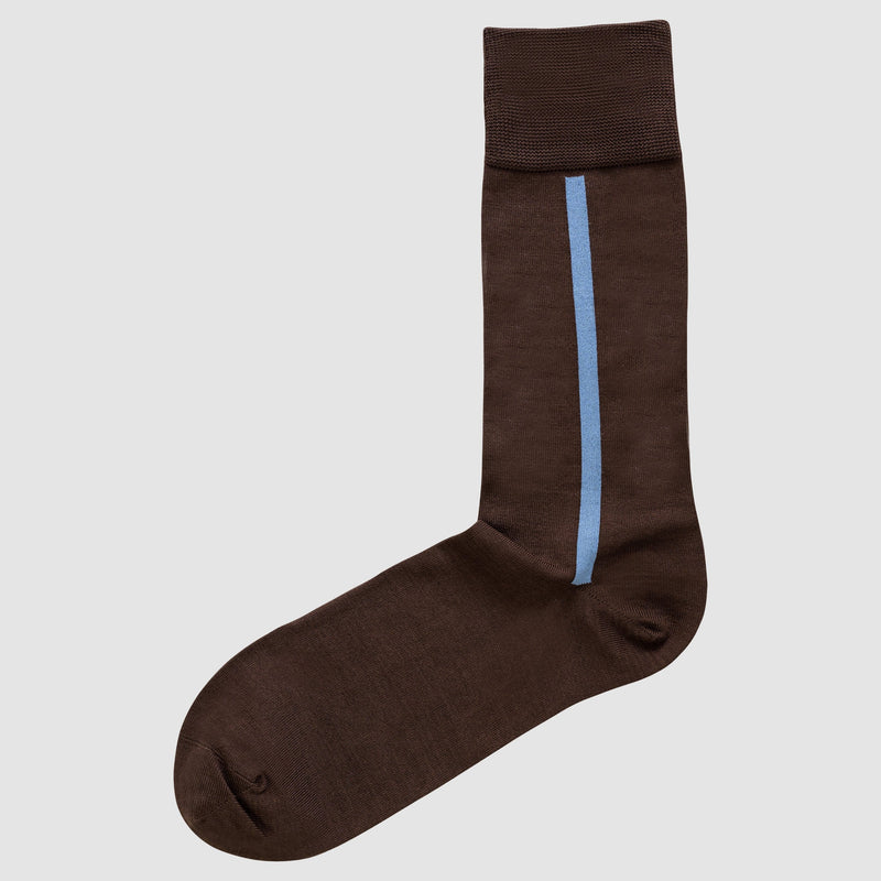 The Chusette Men's Mercerized Cotton Socks in Brown
