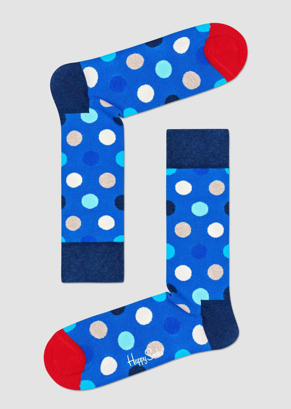 Happy Socks big dot sock in bright coloured combed cotton BDO01-6501