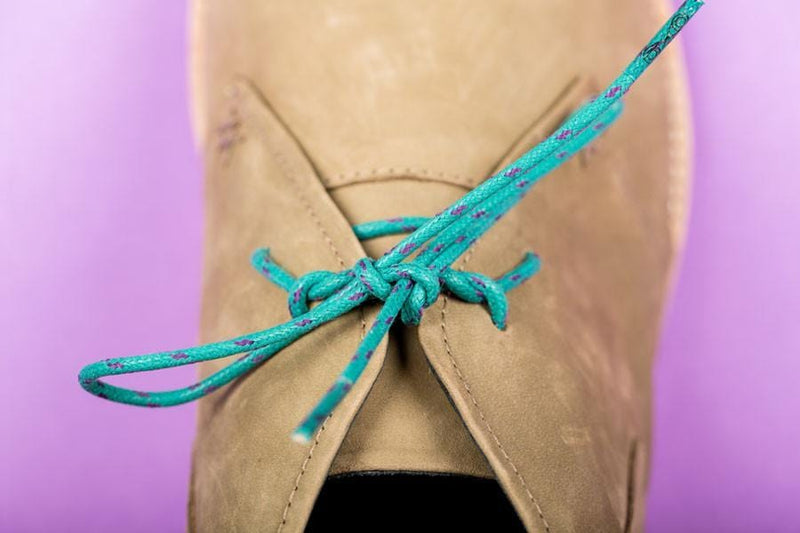 James - Teal and blue flecked Shoelace From Maverickslaces Melbourne