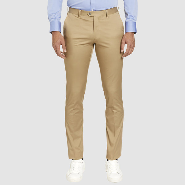the slim fit studio italia havana chino in tobacco beige ST-374-81