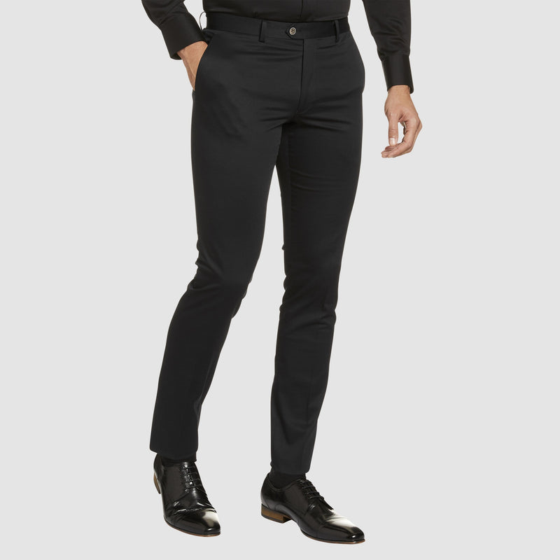the Studio Italia slim fit chino in black cotton stretch ST-459-31