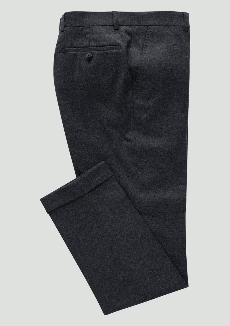 Wolf Kanat slim fit yury trouser in grey wool flannel