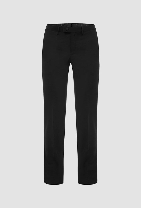 a frontal view of the uberstone slim fit Joe trouser in ink pure wool 6002