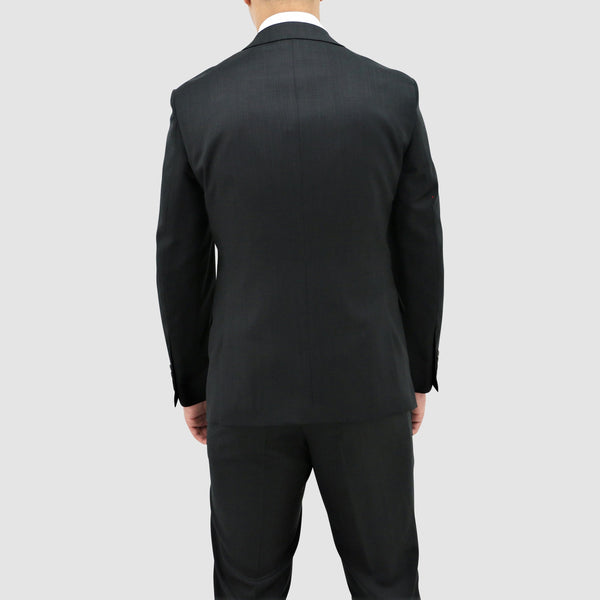 a back view of the daniel hechter classic fit michel suit jacket in black pure wool STDH101-01