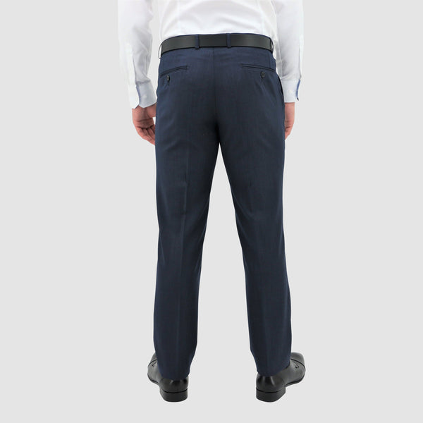 Daniel Hechter classic fit lyon trouser in blue pure wool DH101