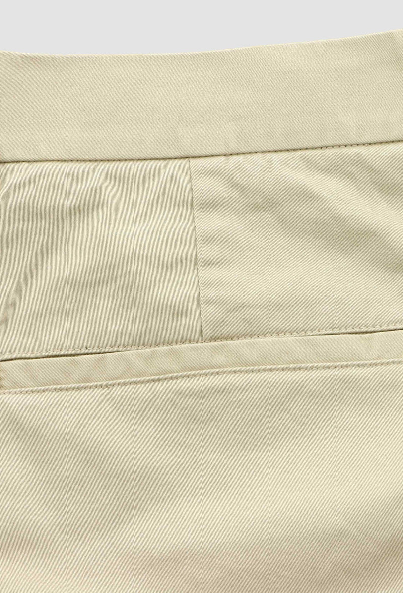 a close up view of the back pocket on the daniel hechter slim fit chino in sand DH490-27