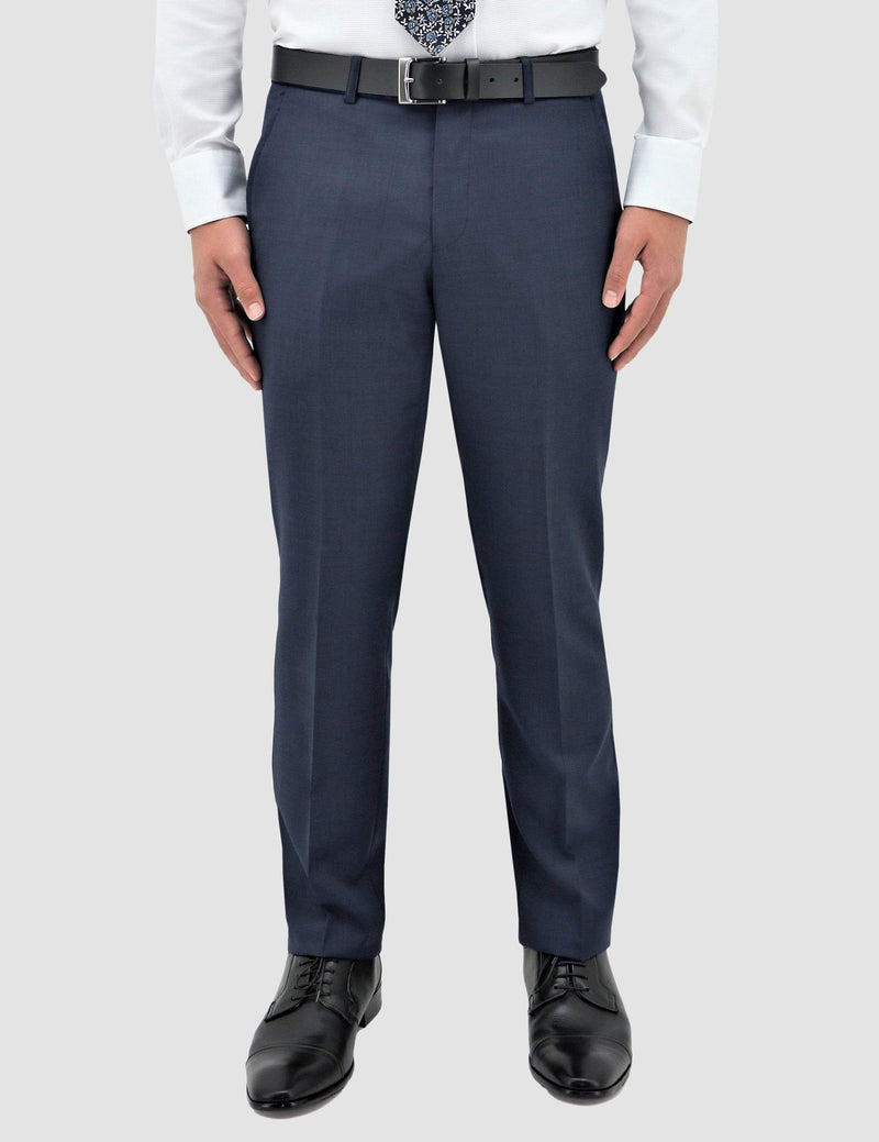 a front view of the classic fit boston lyon suit trouser in blue pure wool B704-14