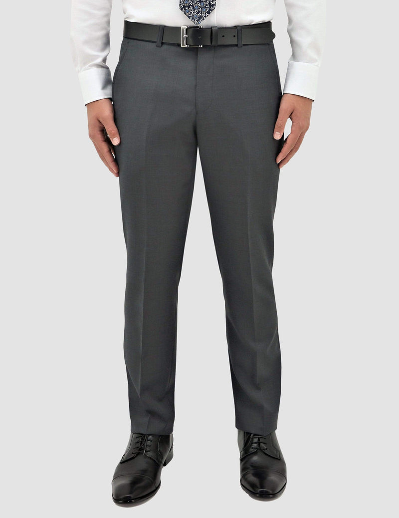 a front view of the classic fit boston lyon suit trouser in grey pure wool B704-03