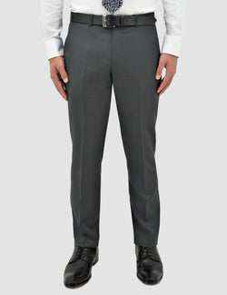 a front view of the classic fit boston lyon trouser in grey pure wool B704-03