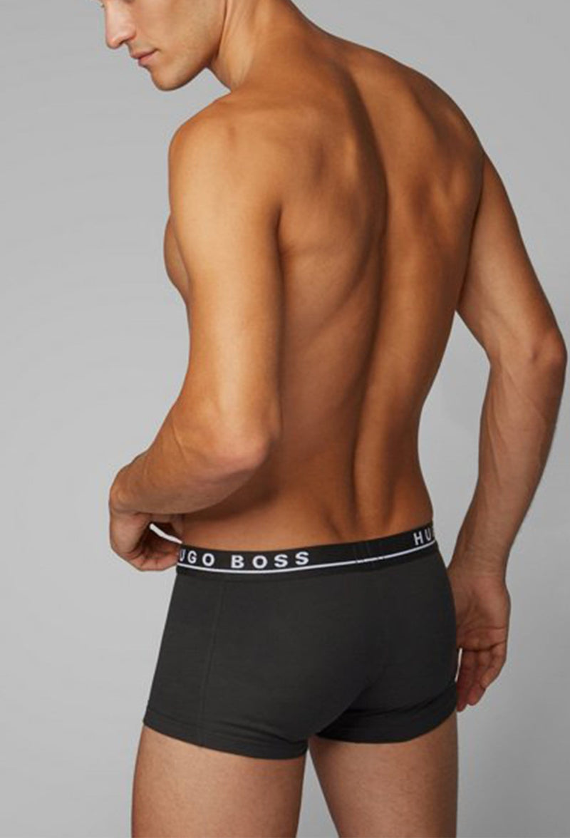 Hugo Boss classic fit trunk 3 pack in stretch cotton