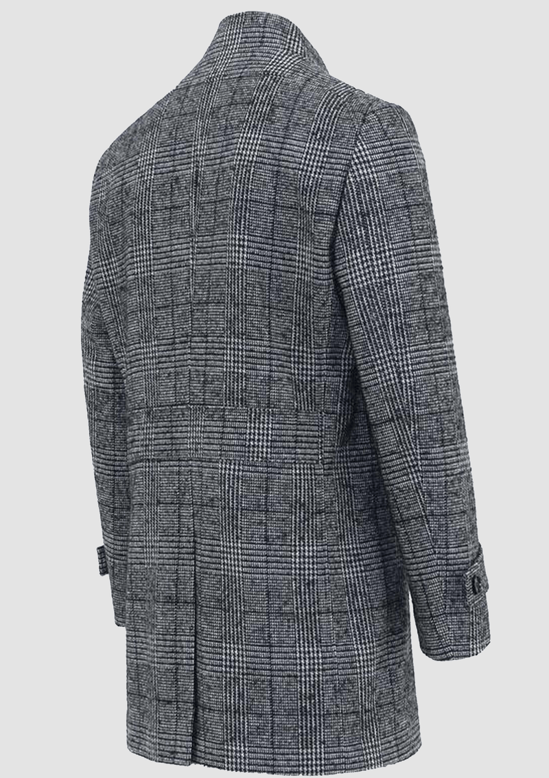 a back view showing the back vent on the daniel hechter mens winter coat