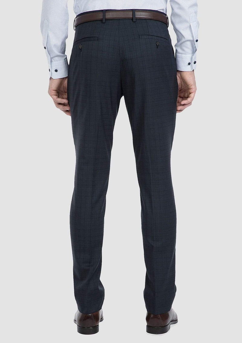 A back view of the slim fit caper suit trouser by gibson FG1614