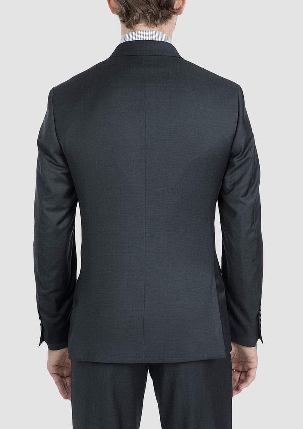 the gibson slim fit beta mens suit jacket in charcoal pure wool FG1614