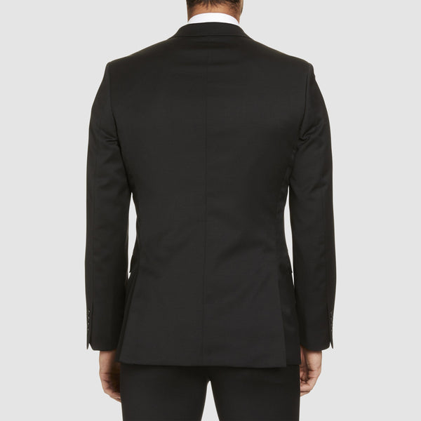 the studio italia lugano suit in black merino wool ST362-31