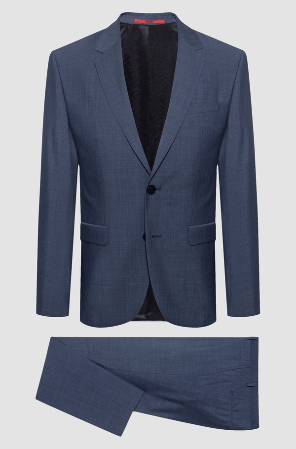hugo boss mens arti hesten suit in blue pure wool 50428062