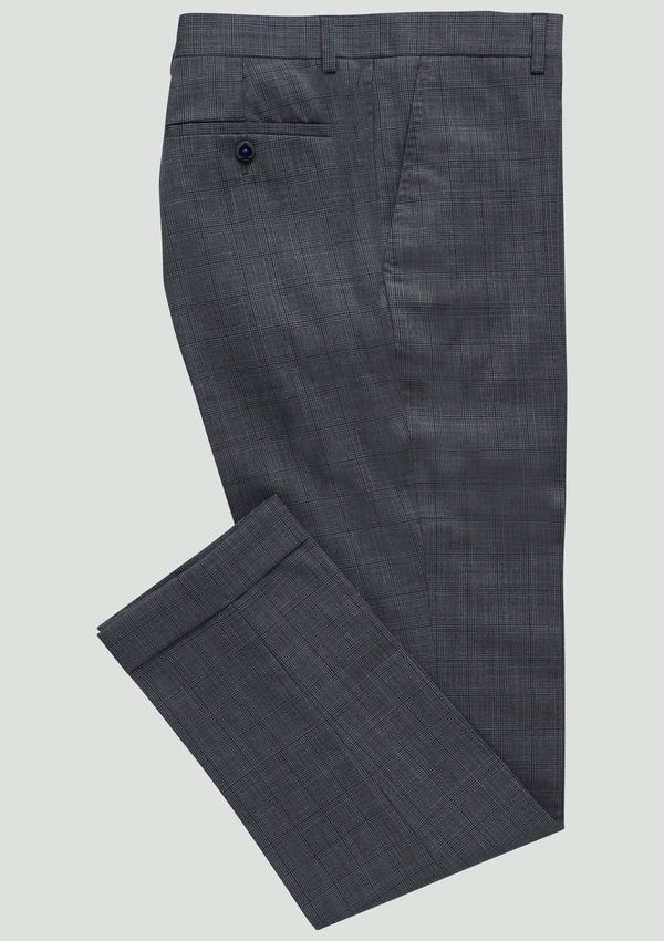 a flat lay view of the wolf kanat slim fit yury trouser in grey wool 7WK8230.j