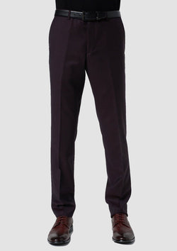 front view of the slim fit hearts suit including the hearts mens suit trouser seperate in red pure wool 8WK9010