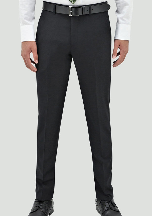 daniel hechter slim fit edward mens suit trouser in charcoal merino wool STDH106-02