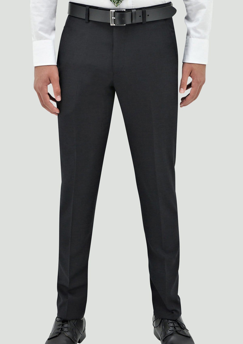 a front view of the daniel hechter slim fit edward mens suit trouser in charcoal pure wool STDH106-02-EDWARD1
