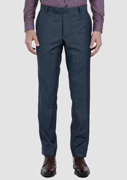 the front of the gibson slim fit carper mens suit trouser in new blue wool blend FG1614