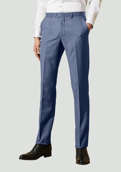 a front view of the Elegan Men's Suit Trouser by Ted Baker Product Code: 1RL2014 Marine Blue