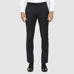 a front view of the studio italia T85 suit trouser in navy merino wool ST-362-11