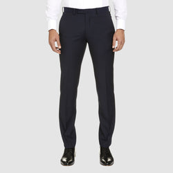 slim fit T93 dinner trouser by studio italia in navy pure wool  ST-380-11