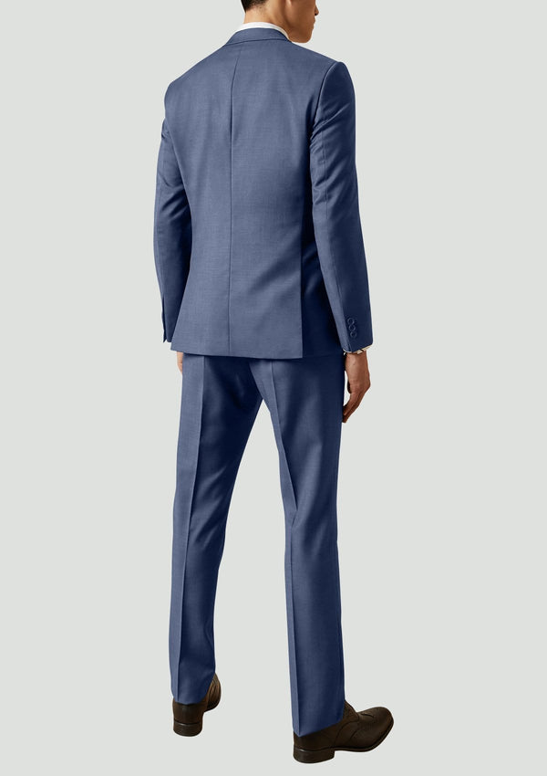 a back full length view of the super 100s pure wool business suit by ted baker 1RL2014