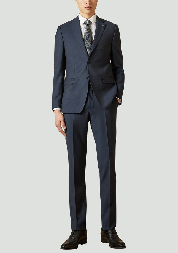 ted baker slim fit elegan suit in navy super 100s pure wool 1RL2010