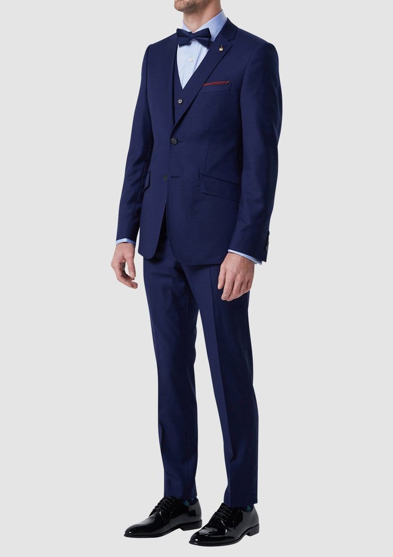 a full length view of the pure wool wolf kanat autograf mens suit in blue 7WK4236