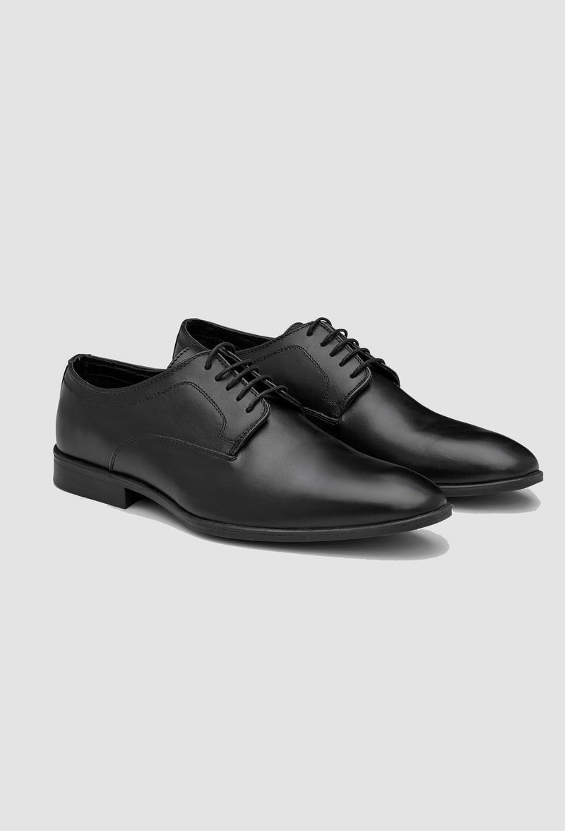 AQ by Aquila Gawn lace up leather shoes in black