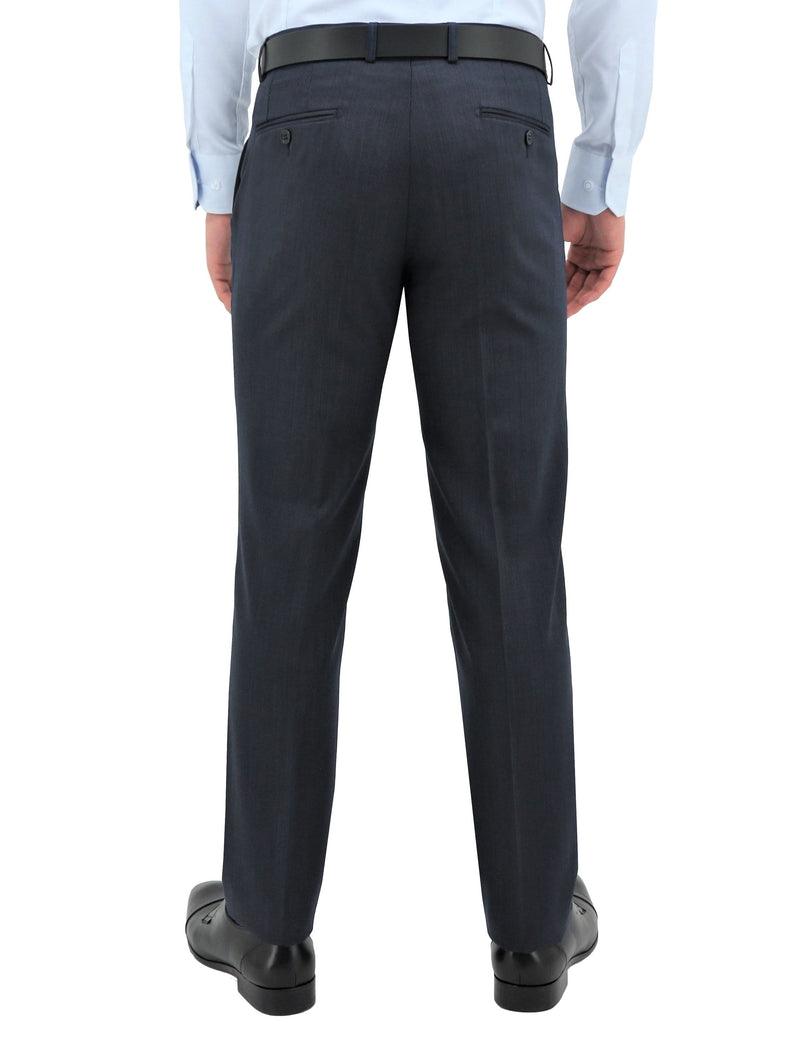 Daniel Hechter classic fit lyon trouser in navy pure wool