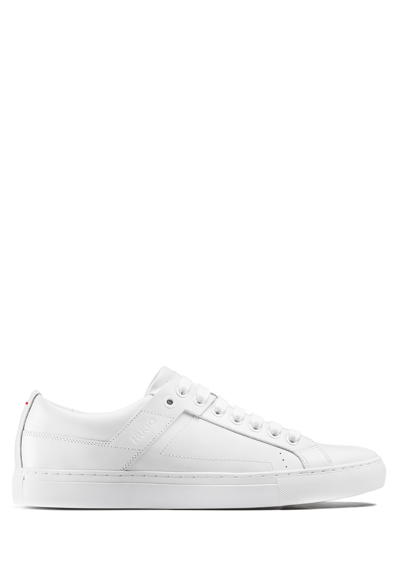 the futurism tennis inspired mens casual trainier in white nappa leather 50315601 White