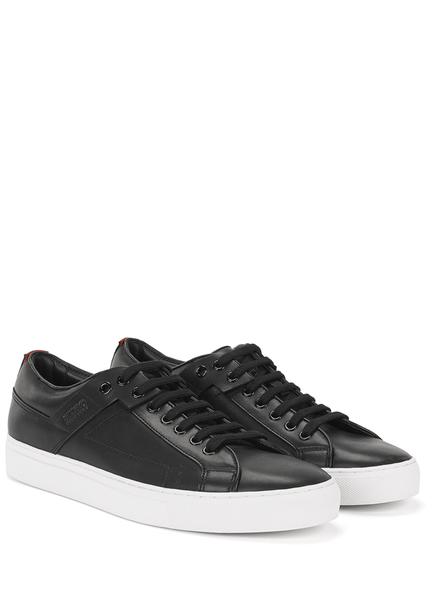 the hugo boss derby smooth mens leather shoes in black