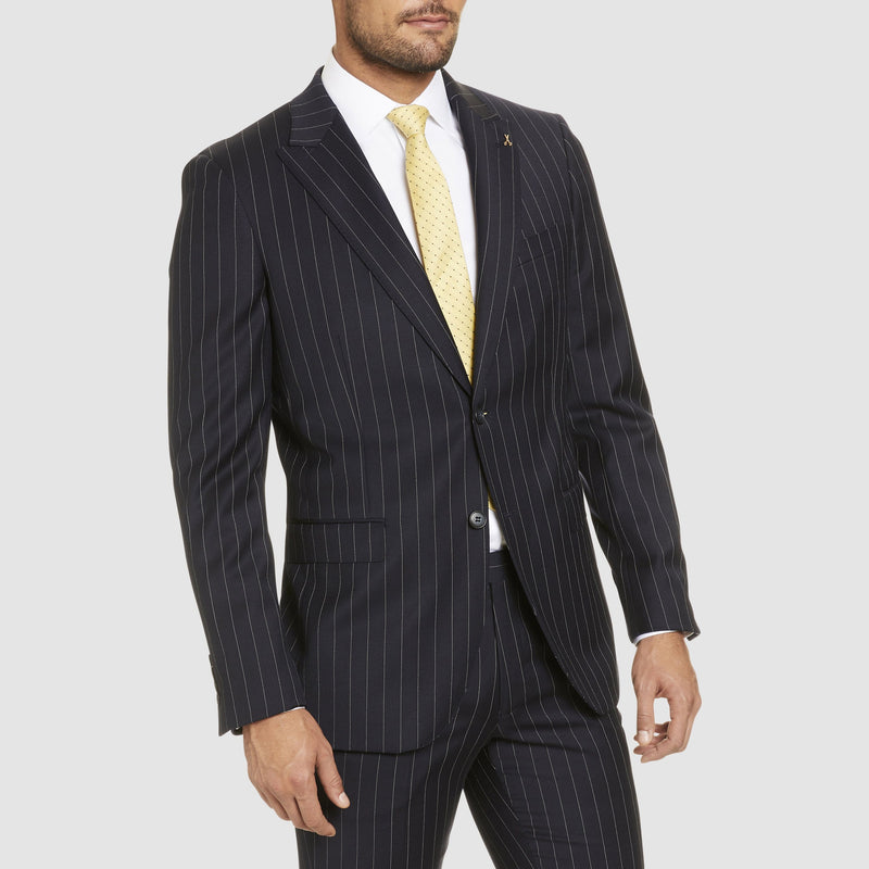 the navy pin stripe rowland suit jacket by studio italia ST-472-11