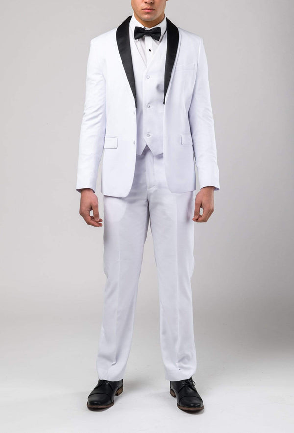 Aston slim fit lackhart vest in white A109301V styled with the lack hard trouser and jacket