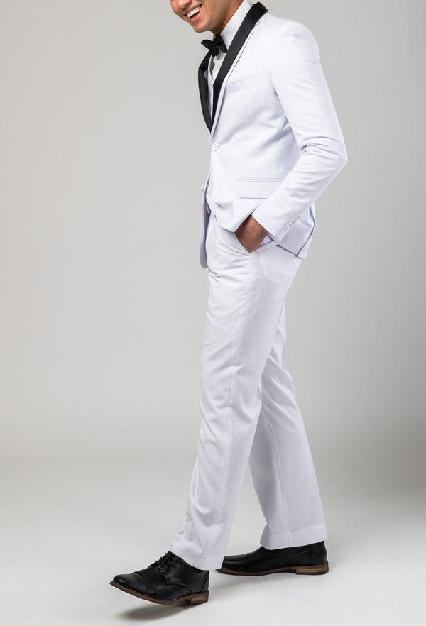 Aston slim fit lackhart trouser in white