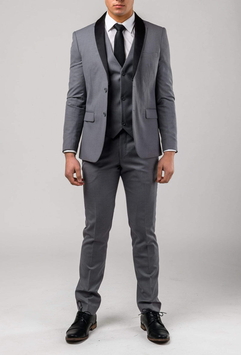 the Aston slim fit laneport vest in grey A039301V styled with the lane port jacket and trouser