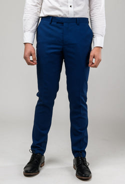 a front view of the Aston slim fit leon trouser in blue A042718T